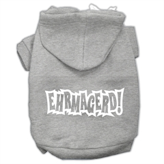 Mirage Pet Products Ehrmagerd Screen Print Pet Hoodies Grey Size Sm (10)