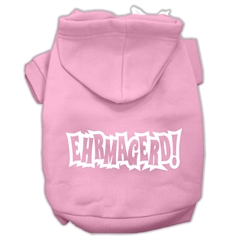 Mirage Pet Products Ehrmagerd Screen Print Pet Hoodies Light Pink Size Sm (10)