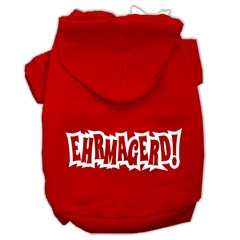 Mirage Pet Products Ehrmagerd Screen Print Pet Hoodies Red Size XS (8)