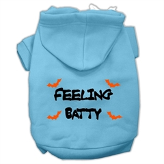 Mirage Pet Products Feeling Batty Screen Print Pet Hoodies Baby Blue Size Sm (10)