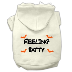 Mirage Pet Products Feeling Batty Screen Print Pet Hoodies Cream Size XS (8)