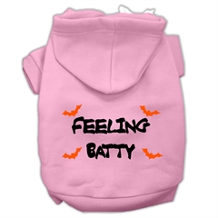 Mirage Pet Products Feeling Batty Screen Print Pet Hoodies Light Pink Size XL (16)