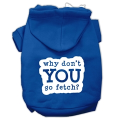 Mirage Pet Products You Go Fetch Screen Print Pet Hoodies Blue Size Sm (10)