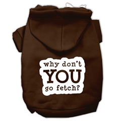 Mirage Pet Products You Go Fetch Screen Print Pet Hoodies Brown Size Sm (10)
