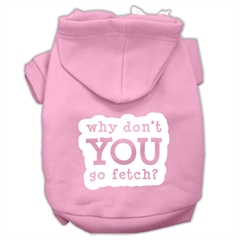 Mirage Pet Products You Go Fetch Screen Print Pet Hoodies Light Pink Size XL (16)