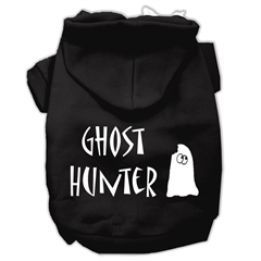 Mirage Pet Products Ghost Hunter Screen Print Pet Hoodies Black with Cream Lettering XS (8)