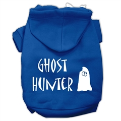 Mirage Pet Products Ghost Hunter Screen Print Pet Hoodies Blue with Cream Lettering XL (16)