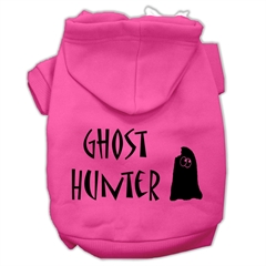 Mirage Pet Products Ghost Hunter Screen Print Pet Hoodies Bright Pink with Black Lettering XL (16)