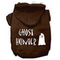 Mirage Pet Products Ghost Hunter Screen Print Pet Hoodies Brown with Cream Lettering XS (8)