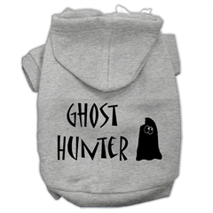 Mirage Pet Products Ghost Hunter Screen Print Pet Hoodies Grey with Black Lettering Lg (14)