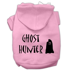 Mirage Pet Products Ghost Hunter Screen Print Pet Hoodies Light Pink with Black Lettering XS (8)