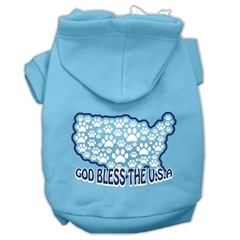 Mirage Pet Products God Bless USA Screen Print Pet Hoodies Baby Blue M (12)