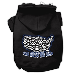 Mirage Pet Products God Bless USA Screen Print Pet Hoodies Black M (12)