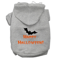 Mirage Pet Products Happy Halloween Screen Print Pet Hoodies Grey S (10)