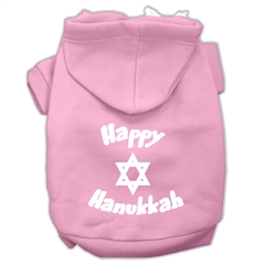 Mirage Pet Products Happy Hanukkah Screen Print Pet Hoodies Light Pink Size Lg (14)