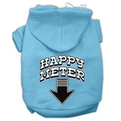 Mirage Pet Products Happy Meter Screen Printed Dog Pet Hoodies Baby Blue Size Sm (10)