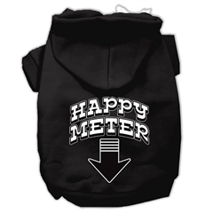 Mirage Pet Products Happy Meter Screen Printed Dog Pet Hoodies Black Size XS (8)