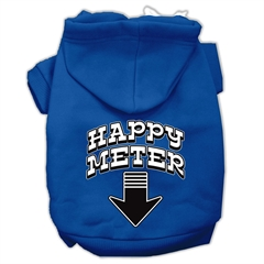 Mirage Pet Products Happy Meter Screen Printed Dog Pet Hoodies Blue Size XL (16)