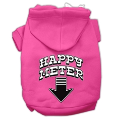 Mirage Pet Products Happy Meter Screen Printed Dog Pet Hoodies Bright Pink Size Sm (10)