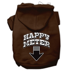 Mirage Pet Products Happy Meter Screen Printed Dog Pet Hoodies Brown Size XXL (18)