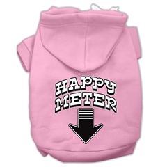 Mirage Pet Products Happy Meter Screen Printed Dog Pet Hoodies Light Pink Size Sm (10)