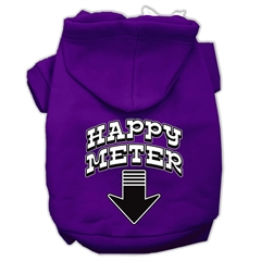 Mirage Pet Products Happy Meter Screen Printed Dog Pet Hoodies Purple Size Lg (14)
