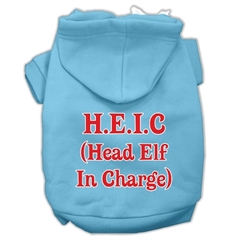 Mirage Pet Products Head Elf In Charge Screen Print Pet Hoodies Baby Blue Size Sm (10)