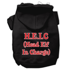 Mirage Pet Products Head Elf In Charge Screen Print Pet Hoodies Black Size XS (8)