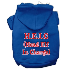 Mirage Pet Products Head Elf In Charge Screen Print Pet Hoodies Blue Size Sm (10)