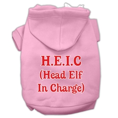 Mirage Pet Products Head Elf In Charge Screen Print Pet Hoodies Light Pink Size Sm (10)