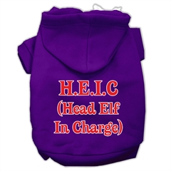 Mirage Pet Products Head Elf In Charge Screen Print Pet Hoodies Purple Size XXXL (20)