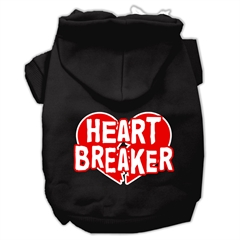 Mirage Pet Products Heart Breaker Screen Print Pet Hoodies Black Size Sm (10)