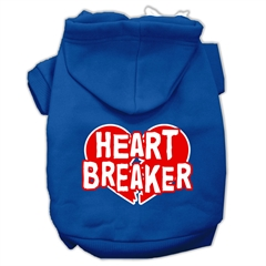 Mirage Pet Products Heart Breaker Screen Print Pet Hoodies Blue Size XS (8)
