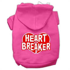 Mirage Pet Products Heart Breaker Screen Print Pet Hoodies Bright Pink Size XL (16)