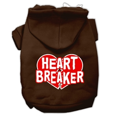 Mirage Pet Products Heart Breaker Screen Print Pet Hoodies Brown Size XXL (18)
