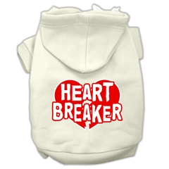Mirage Pet Products Heart Breaker Screen Print Pet Hoodies Cream Size XXXL (20)