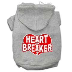 Mirage Pet Products Heart Breaker Screen Print Pet Hoodies Grey Size XL (16)