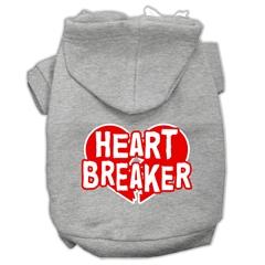 Mirage Pet Products Heart Breaker Screen Print Pet Hoodies Grey Size XXL (18)