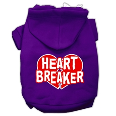 Mirage Pet Products Heart Breaker Screen Print Pet Hoodies Purple Size XL (16)