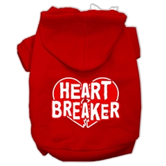 Mirage Pet Products Heart Breaker Screen Print Pet Hoodies Red Size XS (8)