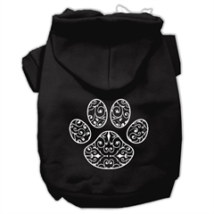 Mirage Pet Products Henna Paw Screen Print Pet Hoodies Black Size XL (16)