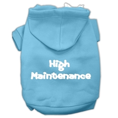 Mirage Pet Products High Maintenance Screen Print Pet Hoodies Baby Blue S (10)