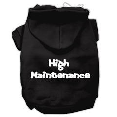 Mirage Pet Products High Maintenance Screen Print Pet Hoodies Black S (10)