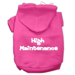 Mirage Pet Products High Maintenance Screen Print Pet Hoodies Bright Pink Size XXL (18)