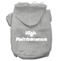 Mirage Pet Products High Maintenance Screen Print Pet Hoodies Grey M (12)