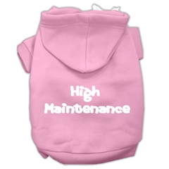 Mirage Pet Products High Maintenance Screen Print Pet Hoodies Light Pink L (14)