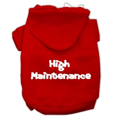 Mirage Pet Products High Maintenance Screen Print Pet Hoodies Red Size XXXL(20)