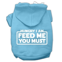 Mirage Pet Products Hungry I am Screen Print Pet Hoodies Baby Blue Size XXXL (20)