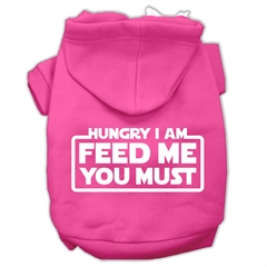 Mirage Pet Products Hungry I am Screen Print Pet Hoodies Bright Pink Size XXL (18)