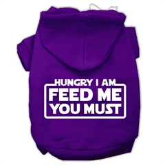 Mirage Pet Products Hungry I am Screen Print Pet Hoodies Purple Size XXXL (20)